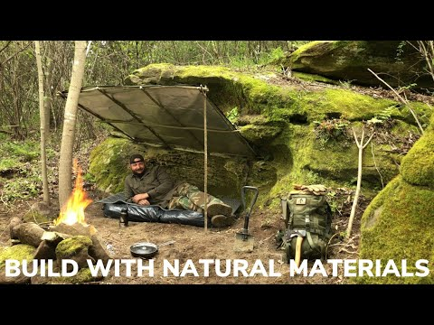 Solo Overnight In a Natural Rock Overhang and Double Bacon and Egg Over Easy Potato