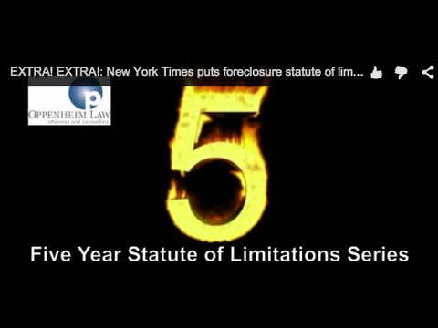EXTRA! EXTRA!: New York Times puts foreclosure statute of limitations front and center