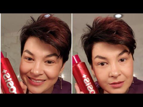Как быстро уложить короткие волосы спреем Osis Volume UP Booster Spray photo