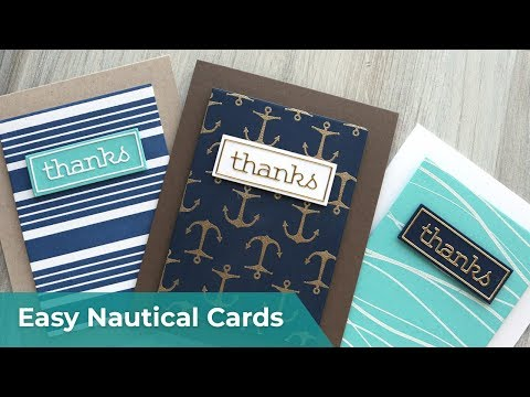 FAST & EASY Nautical Themed Thank You Cards (great for cruise ship crew!)