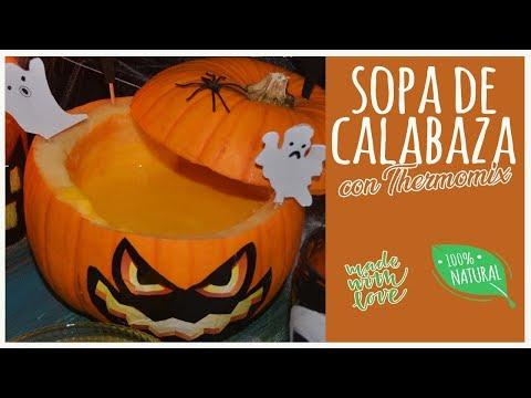 Sopa de calabaza para Halloween