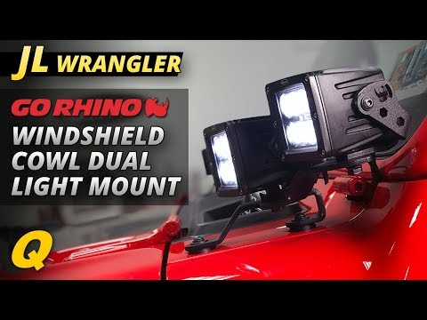 Go Rhino Windshield Cowl Light Mounts Review for Jeep Wrangler JL