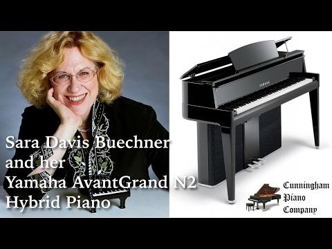 Sara Davis Buechner and her Yamaha AvantGrand N2 Hybrid Piano