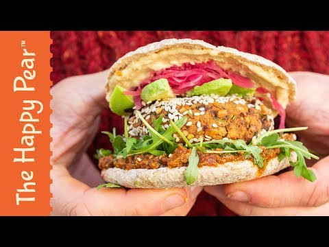 FALAFEL BURGER | FEBURGERARY | THE HAPPY PEAR