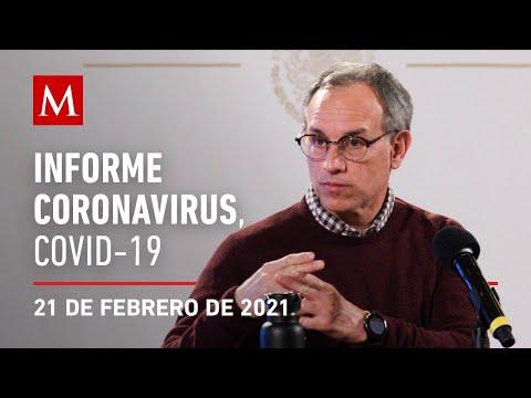 Informe diario por coronavirus en México, 21 de febrero de 2021