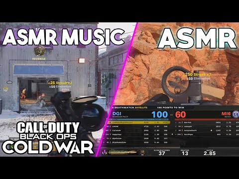 ASMR GAMING   Call Of Duty:ColdWar   Frustrating Snipers Only Then Pop Off In Hardcore ~ ASMR Music
