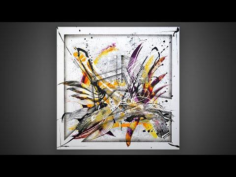 Peinture acrylique - tableau moderne démonstration | Lasione