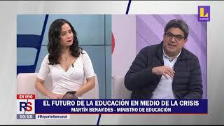 Ministro de Educación, Martín Benavides, habla sobre los retos de la educación peruana para el 2021.