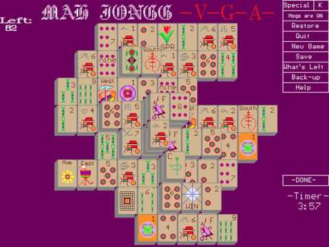 Mah Jongg VGA (Ron Balewski) (MS-DOS) [1991]