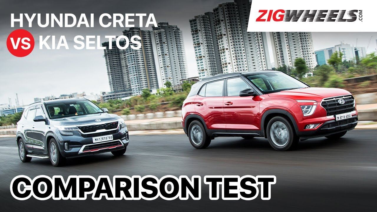 🚗 Hyundai Creta Vs Kia Seltos: Turbo-Petrol ⛽ Automatics | Comparison Test | ZigWheels.com