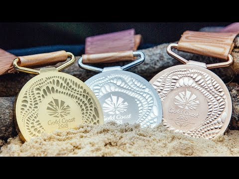 Medals for Commonwealth Games based on Gold Coast coastline