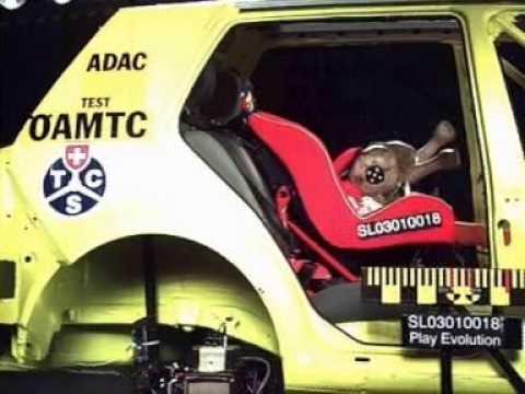 Crash test de sillitas infantiles de 2001