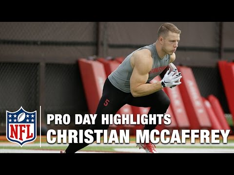 Christian McCaffrey Pro Day Highlights & Bucky Brooks Analysis | NFL | Path to the Draft