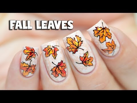 HOW TO LAYER STAMPING - Fall Leaves Nail Art