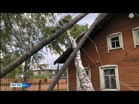 Жители Коми делятся в соцсетях фотографиями урагана
