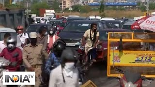Biker gets lesson of a lifetime after violating 'no pillion riding' rule in Delhi - INDIATV