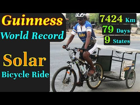 Guinness World Record Solar Bicycle Ride By IIT Bombay Student