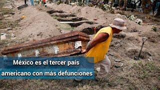 México se mete al top ten de países con más muertes por Covid-19