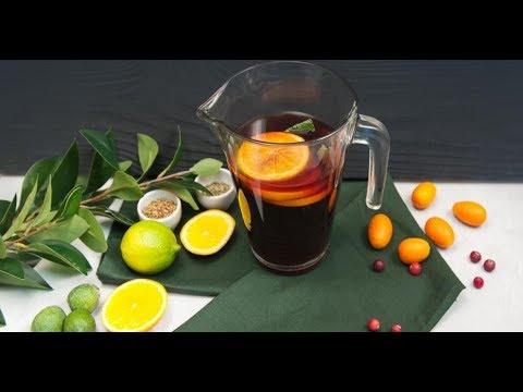Напиток из чёрного чая с гранатовым соком | Ужин? Не проблема!