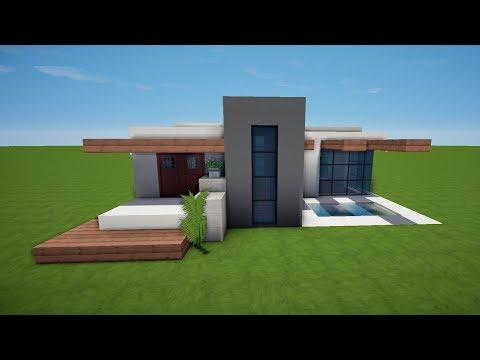 Modernes Minecraft Haus Zum Nachbauen Minecraft Haus Ideen - Minecraft hauser zum nachbauen einfach