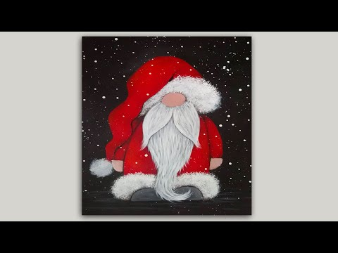 Whimsical Santa Claus Acrylic Painting Tutorial