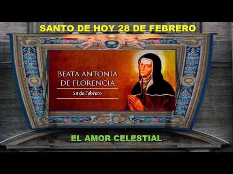 SANTO DE HOY 28 DE FEBRERO BEATA ANTONIA DE FLORENCIA