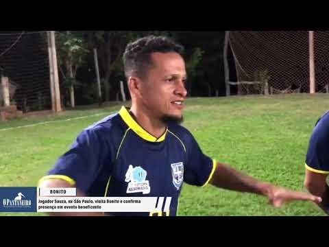 Jogador Souza, ex-São Paulo, visita Bonito e confirma presença em evento beneficente