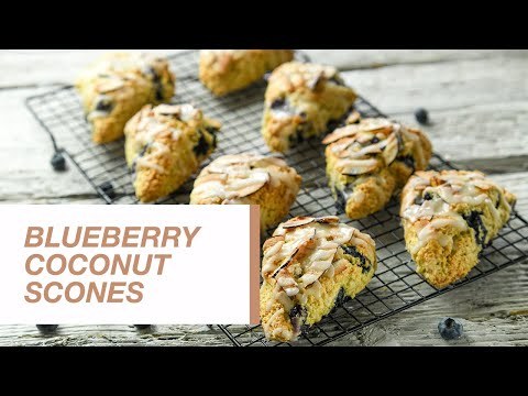 Blueberry Coconut Scones | Food Channel L Recipes