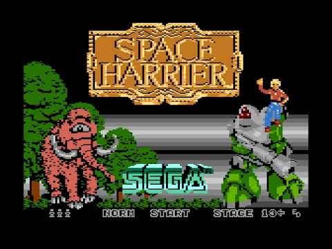 Space Harrier for Atari computers - easter egg