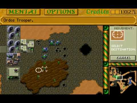 Dune II: The Building of a Dynasty (Ordos: Mission 3) (Westwood) (MS-DOS) [1992] [PC Longplay]