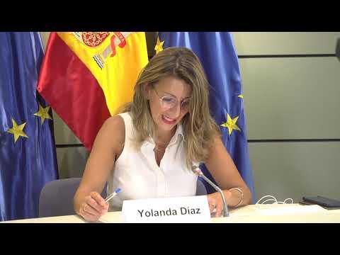 La ministra Yolanda Díaz participa en la reunión de ministras/os de Trabajo del G20