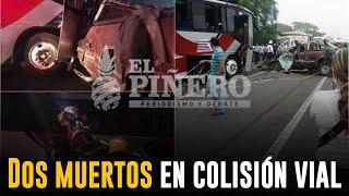 Aparatoso accidente deja como resultado dos muertos en el tramo carretero Paso del Toro  Alvarado
