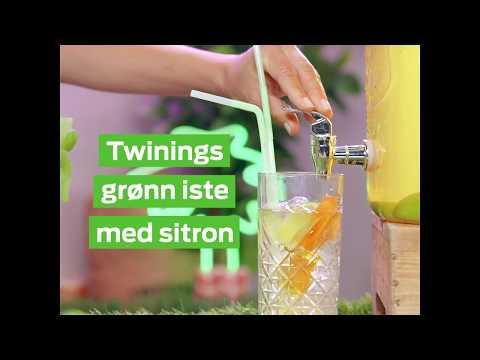Lag din egen iste: Twinings grønn iste med sitron