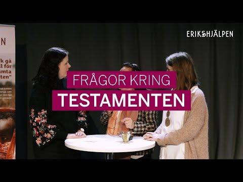 Några frågor kring testamenten