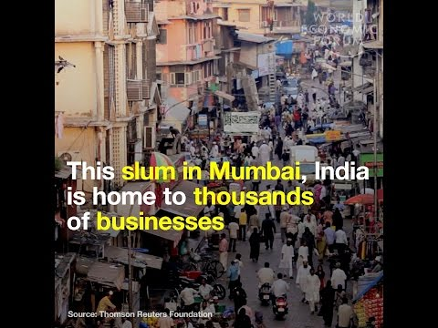 This slum in Mumbai, India is home to thousands of businesses