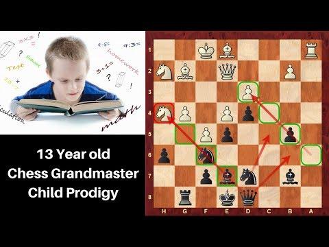13 year old Chess Grandmaster Child prodigy: Nodirbek Abdusattorov vs Bisby :Reykjavik Open 2018