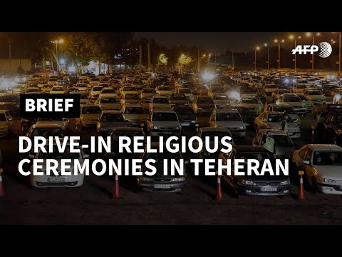 Virus-hit Iran holds drive-in religious ceremonies | AFP photo