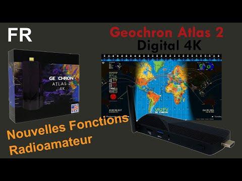 Geochron 4k Atlas 2 Horloge Mondiale Radioamateur