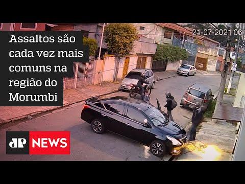 Vídeo flagra ação de criminosos em área nobre de SP