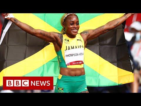 Tokyo Olympics: Elaine Thompson-Herah defends 100m title - BBC News