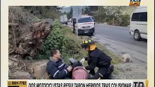 Dos motoristas heridos por choque en Alta Verapaz