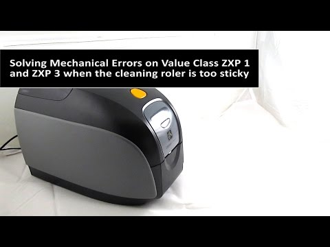 Zebra Fix Mechanical Error for ZXP 1 and ZXP 3 with sticky roller