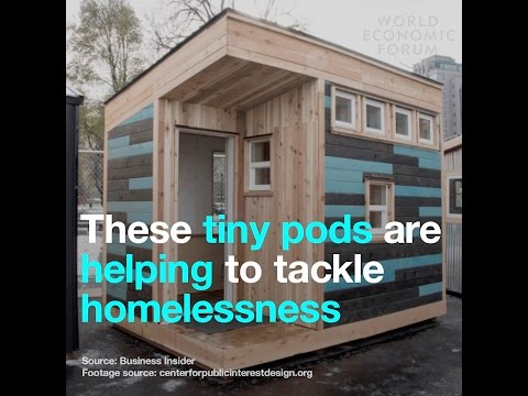 These tiny pods are helping to tackle homelessness