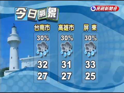 2016/8/28 今起各地降溫有雨 後天回穩-民視新聞