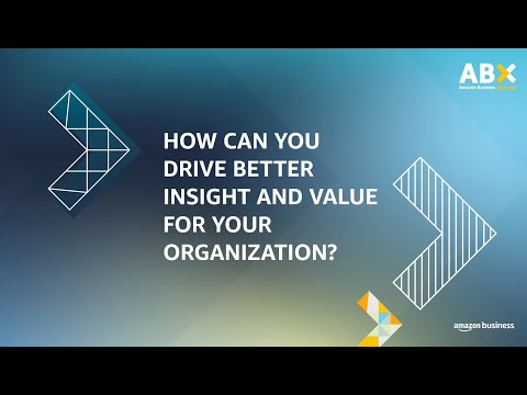 amazon.co.uk & Amazon Discount Codes video: ABX 2020/Day 2/How can you drive better insight and value for your organization?