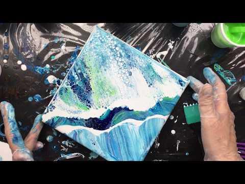( 635 ) Acrylic pouring working on Blaaa