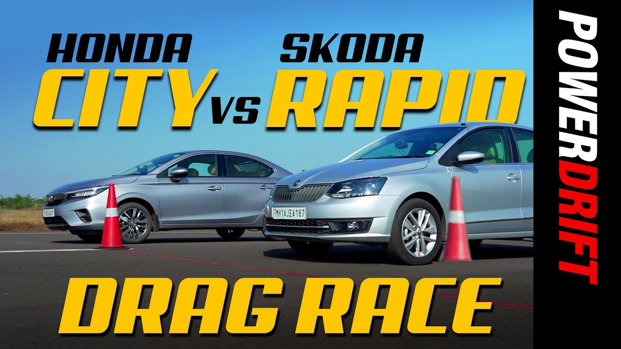 Skoda Rapid vs Honda City | Drag Race | Episode 3 | PowerDrift