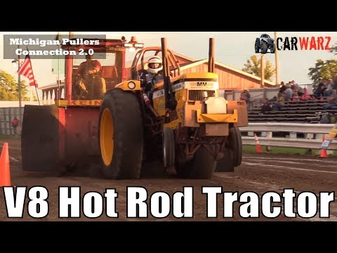 V8 Hot Rod Tractor Class At The TTPA Tractor Pulls In Standish Michigan 2018