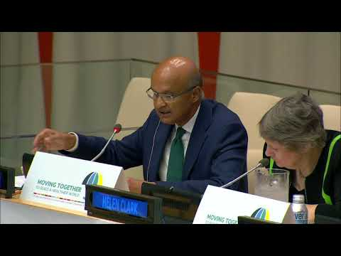 Omar Ishrak speaks at United Nations General Assembly, September 2019