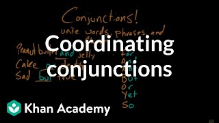 Coordinating conjunctions | The Conjunction | The parts of speech | Grammar